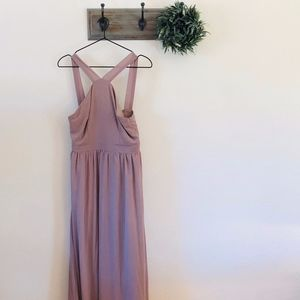 Lulus Gray High Neck Maxi Dress M